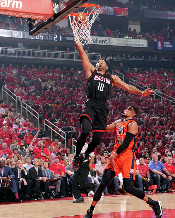Playoffs Poster featuring the photograph Eric Gordon by Bill Baptist