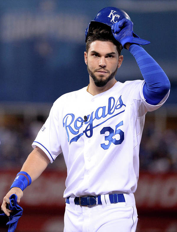 Playoffs Poster featuring the photograph Eric Hosmer by Ron Vesely