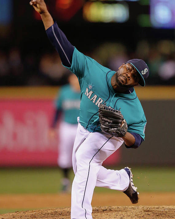 American League Baseball Poster featuring the photograph Fernando Rodney by Otto Greule Jr