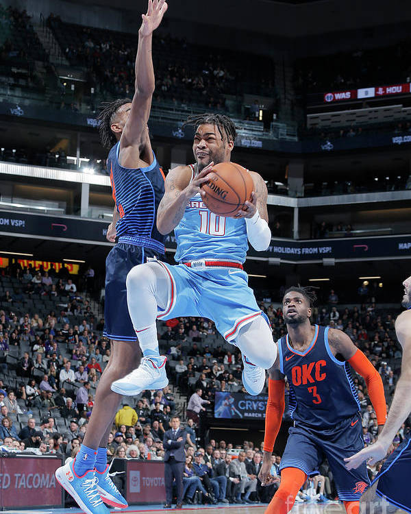Nba Pro Basketball Poster featuring the photograph Frank Mason by Rocky Widner