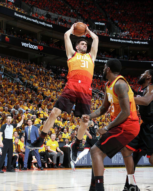 Playoffs Poster featuring the photograph Georges Niang by Melissa Majchrzak