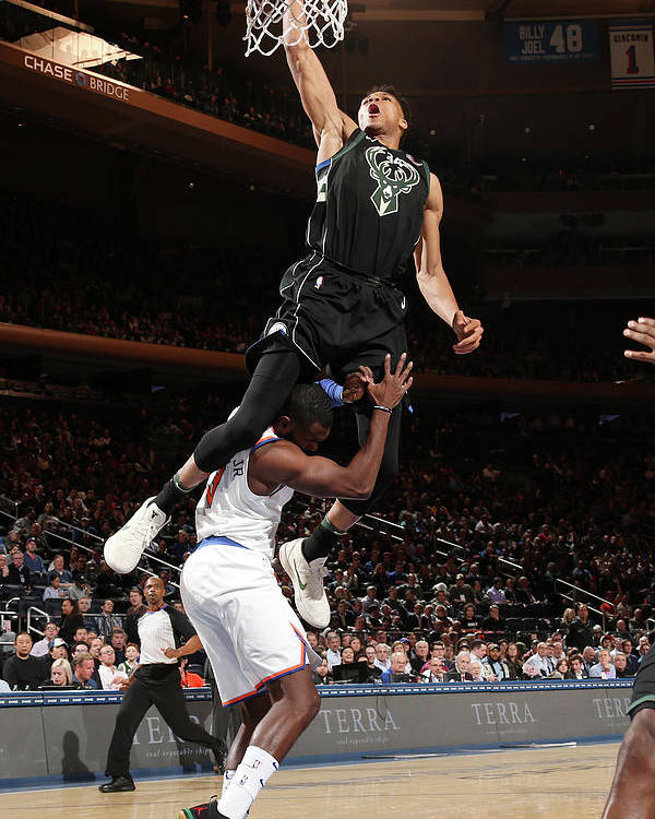 Tim Hardaway Jr. Poster featuring the photograph Giannis Antetokounmpo by Ned Dishman