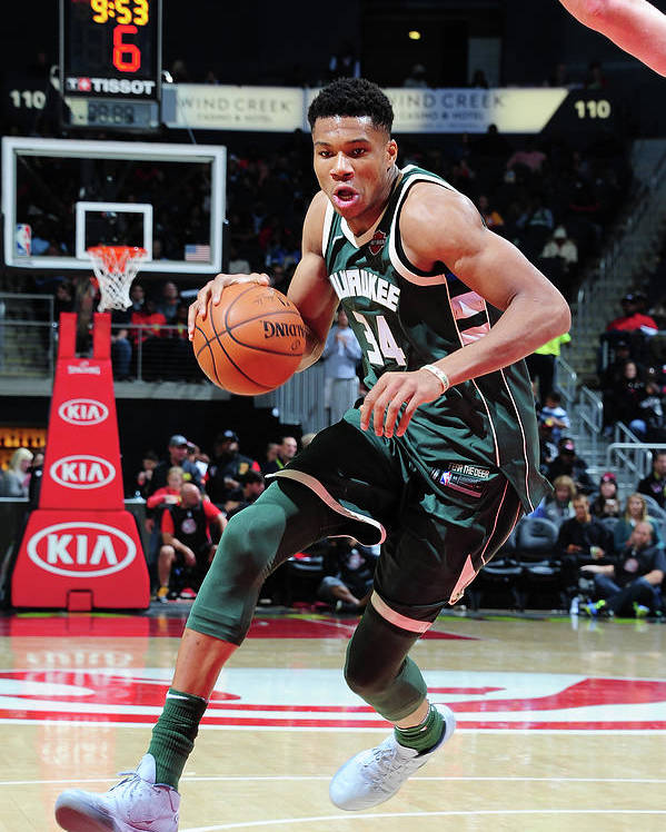 Sport Poster featuring the photograph Giannis Antetokounmpo by Scott Cunningham