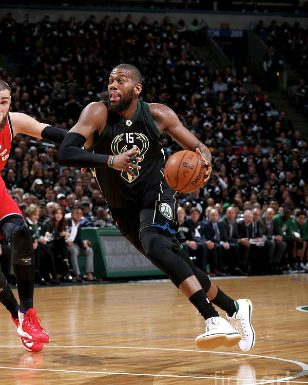 Playoffs Poster featuring the photograph Greg Monroe by Gary Dineen