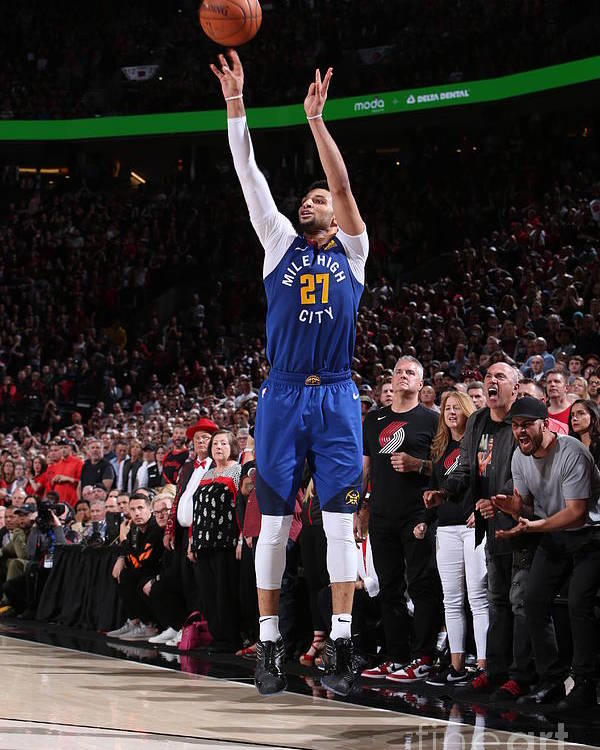 Playoffs Poster featuring the photograph Jamal Murray by Sam Forencich