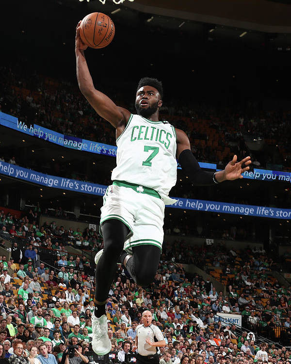 Playoffs Poster featuring the photograph Jaylen Brown by Nathaniel S. Butler