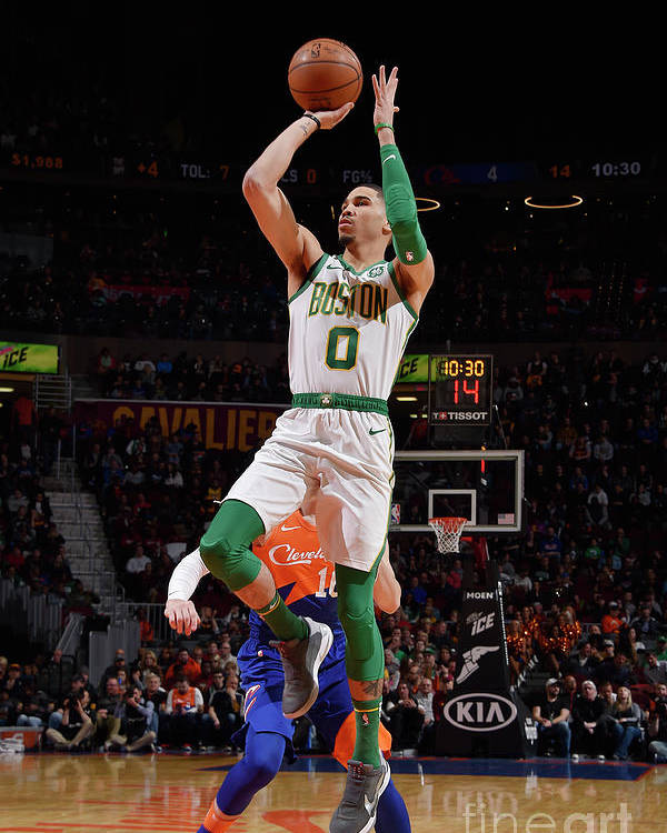 Nba Pro Basketball Poster featuring the photograph Jayson Tatum by David Liam Kyle