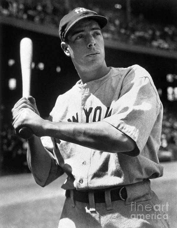 American League Baseball Poster featuring the photograph Joe Dimaggio by National Baseball Hall Of Fame Library