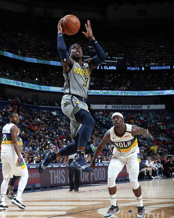 Smoothie King Center Poster featuring the photograph Jrue Holiday by Layne Murdoch Jr.