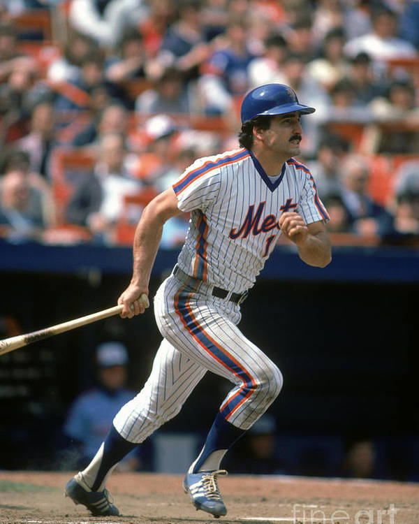 1980-1989 Poster featuring the photograph Keith Hernandez by Rich Pilling