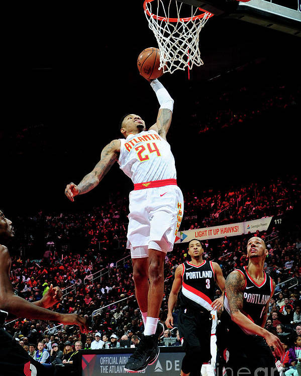 Atlanta Poster featuring the photograph Kent Bazemore by Scott Cunningham