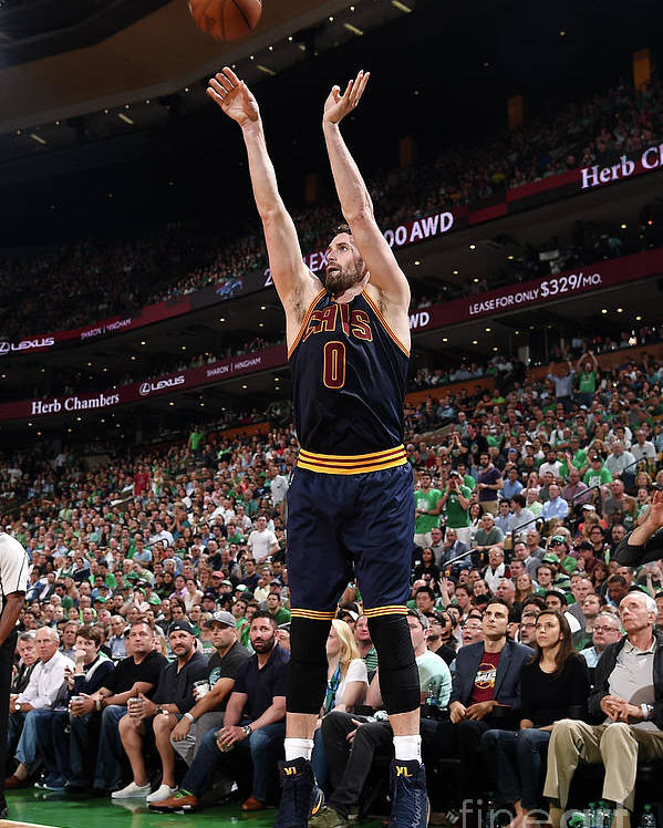 Playoffs Poster featuring the photograph Kevin Love by Brian Babineau