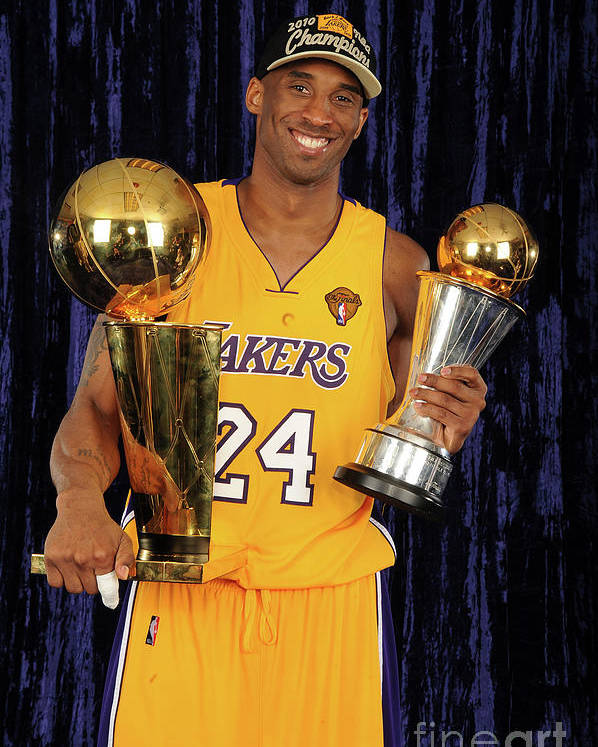 Following Poster featuring the photograph Kobe Bryant by Andrew D. Bernstein