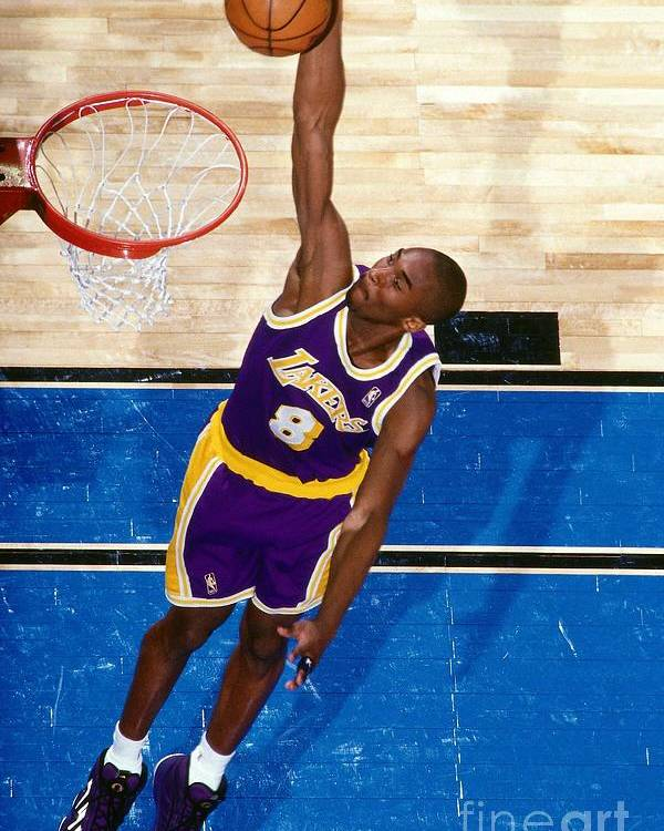 Nba Pro Basketball Poster featuring the photograph Kobe Bryant by Nathaniel S. Butler