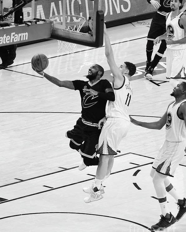 Playoffs Poster featuring the photograph Kyrie Irving by Andrew D. Bernstein