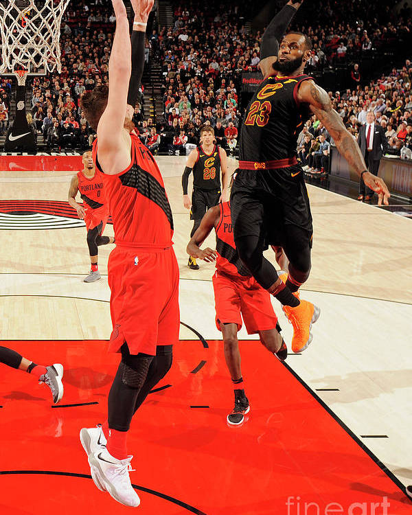 Jusuf Nurkić Poster featuring the photograph Lebron James by Cameron Browne