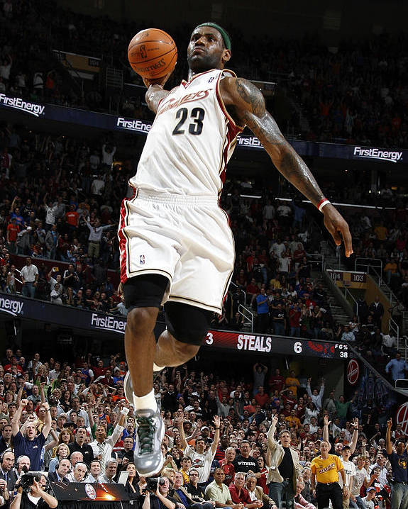 Nba Pro Basketball Poster featuring the photograph Lebron James by Gregory Shamus