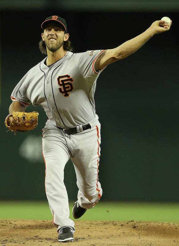 Baseball Pitcher Poster featuring the photograph Madison Bumgarner by Christian Petersen