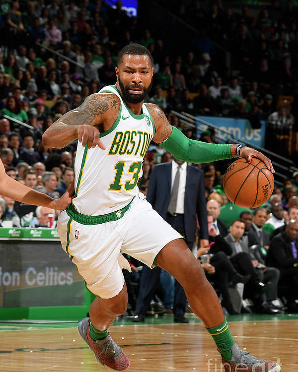 Nba Pro Basketball Poster featuring the photograph Marcus Morris by Brian Babineau