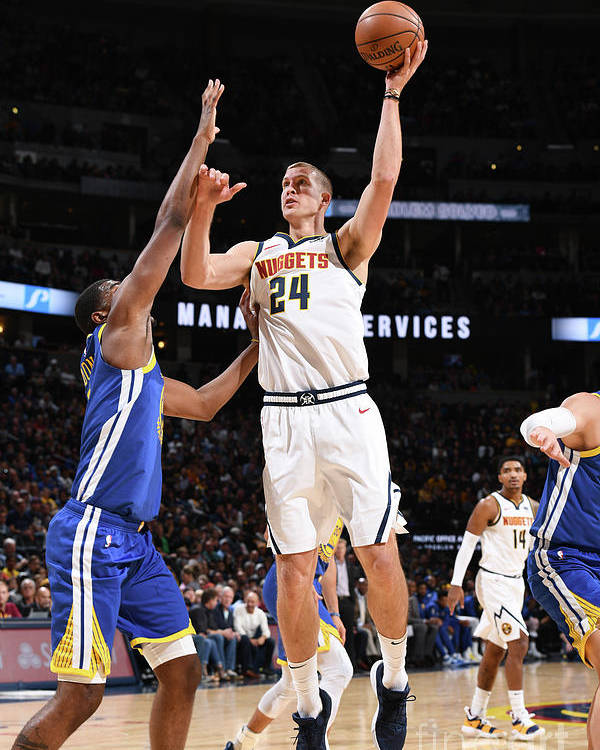 Nba Pro Basketball Poster featuring the photograph Mason Plumlee by Garrett Ellwood