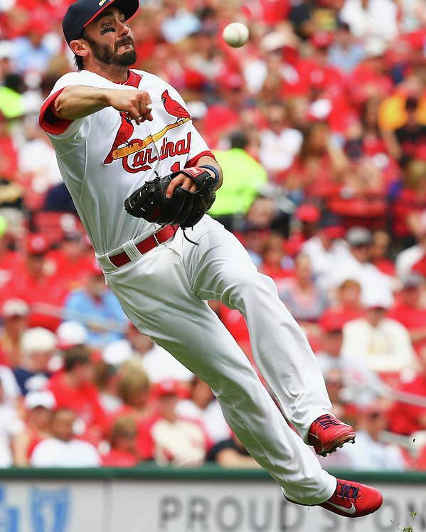 St. Louis Cardinals Poster featuring the photograph Matt Carpenter by Dilip Vishwanat