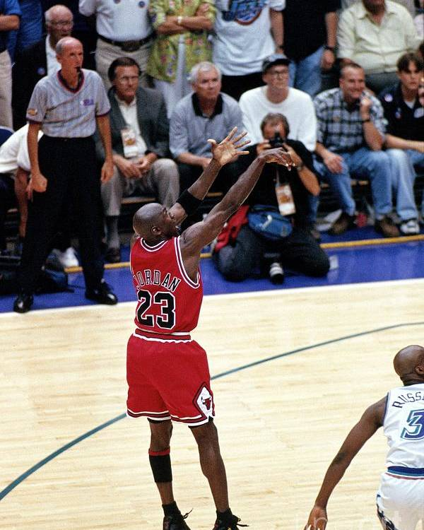 Chicago Bulls Poster featuring the photograph Michael Jordan by Nba Photos