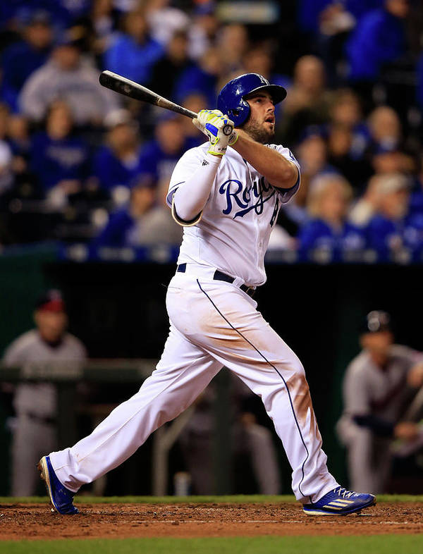People Poster featuring the photograph Mike Moustakas by Jamie Squire