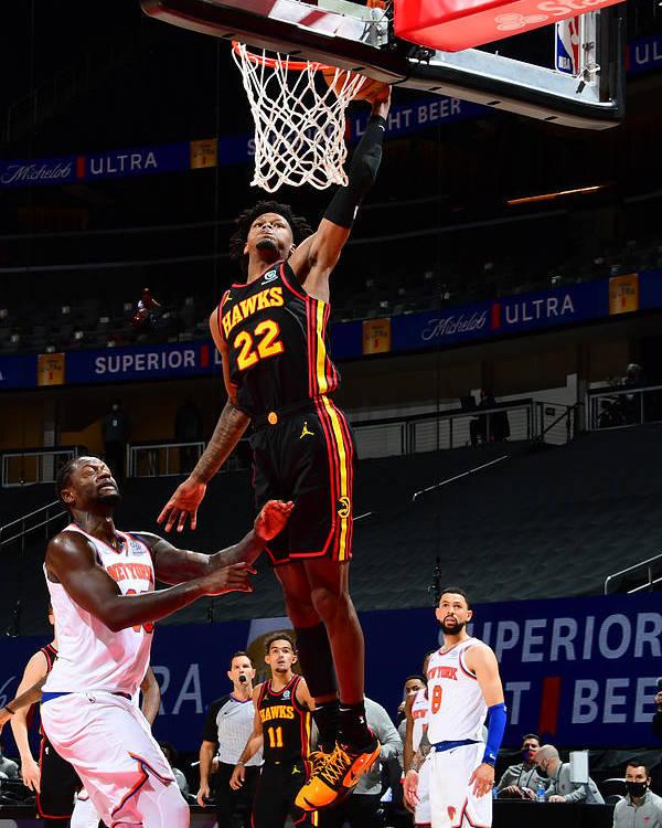 Atlanta Poster featuring the photograph New York Knicks v Atlanta Hawks by Scott Cunningham