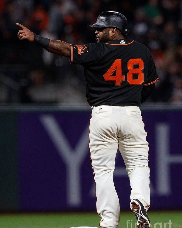 San Francisco Poster featuring the photograph Pablo Sandoval by Jason O. Watson