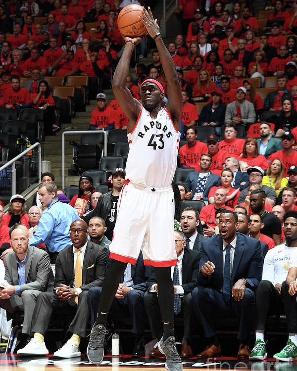 Playoffs Poster featuring the photograph Pascal Siakam by Andrew D. Bernstein