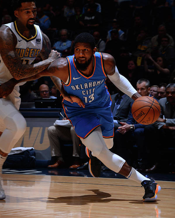 Nba Pro Basketball Poster featuring the photograph Paul George by Bart Young