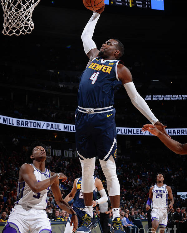Nba Pro Basketball Poster featuring the photograph Paul Millsap by Bart Young