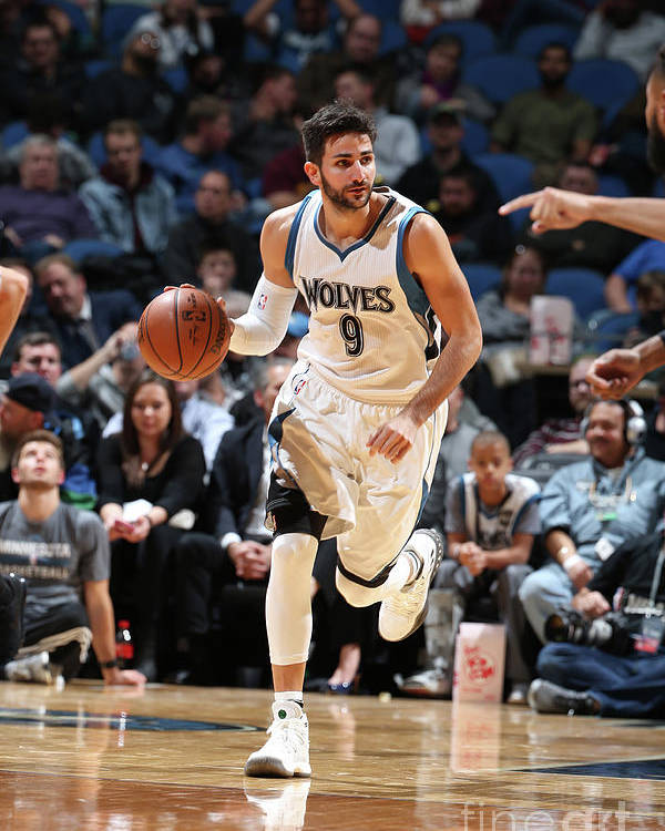 Nba Pro Basketball Poster featuring the photograph Ricky Rubio by David Sherman