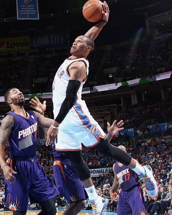 Nba Pro Basketball Poster featuring the photograph Russell Westbrook by Layne Murdoch