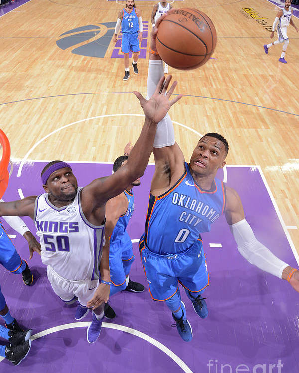 Nba Pro Basketball Poster featuring the photograph Russell Westbrook by Rocky Widner