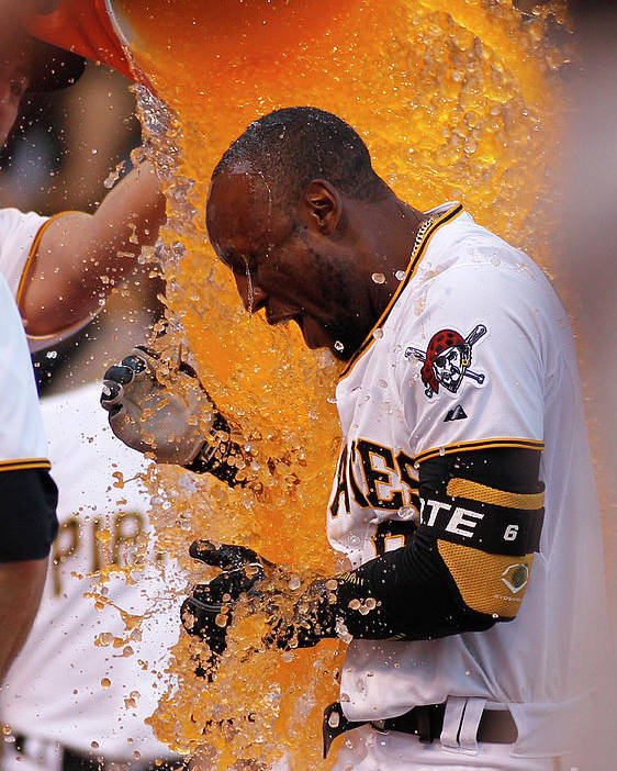 Three Quarter Length Poster featuring the photograph Starling Marte by Justin K. Aller