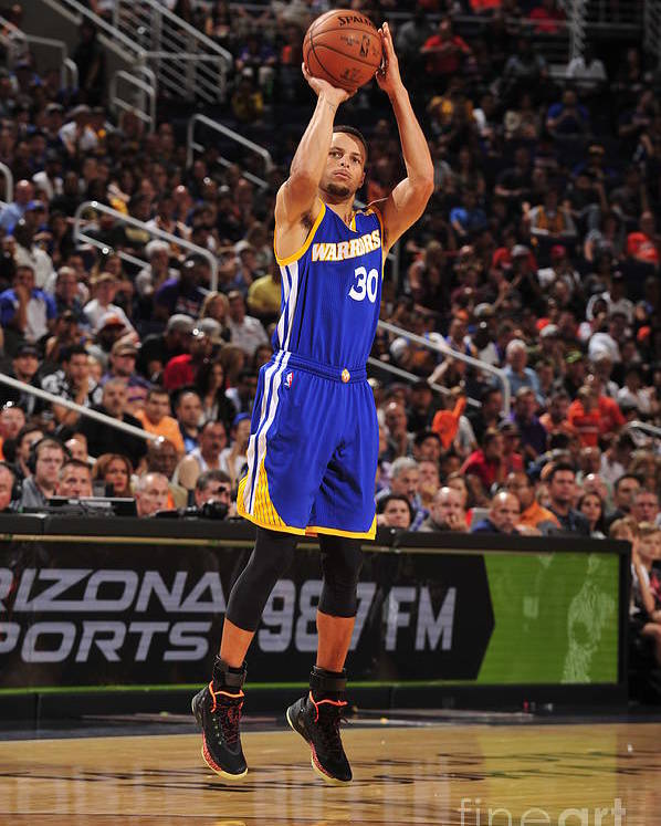 Nba Pro Basketball Poster featuring the photograph Stephen Curry by Barry Gossage
