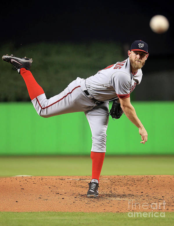People Poster featuring the photograph Stephen Strasburg by Mike Ehrmann