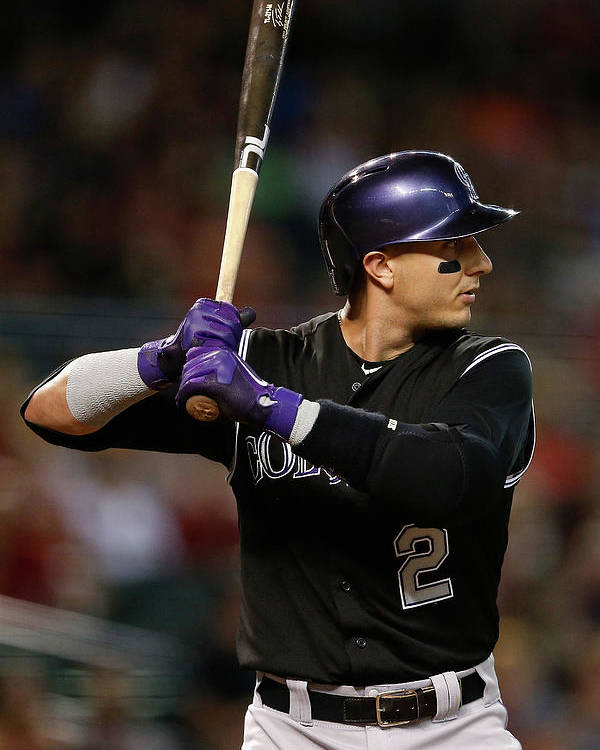 Three Quarter Length Poster featuring the photograph Troy Tulowitzki by Christian Petersen