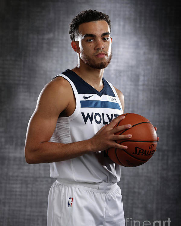 Media Day Poster featuring the photograph Tyus Jones by David Sherman