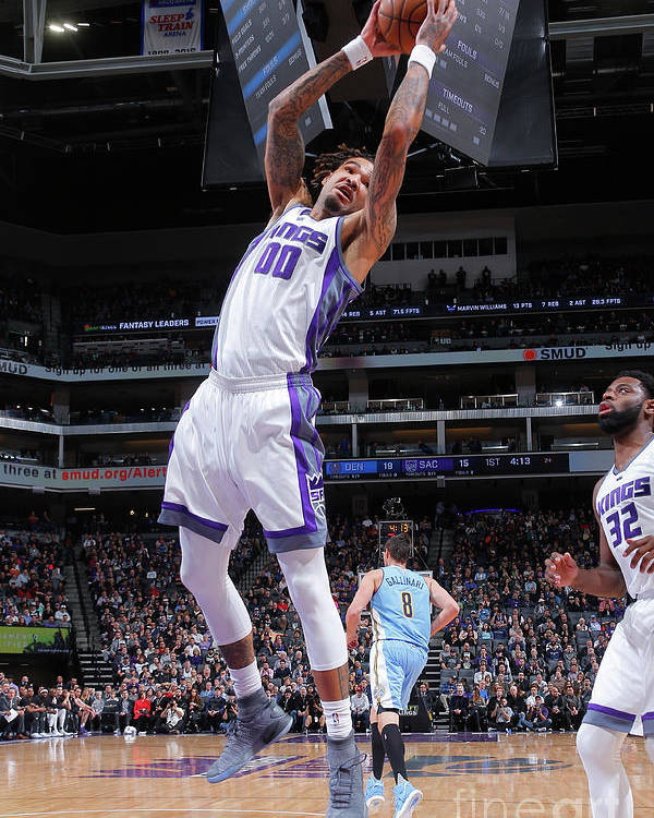 Nba Pro Basketball Poster featuring the photograph Willie Cauley-stein by Rocky Widner