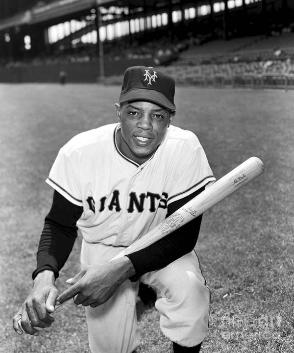 People Poster featuring the photograph Willie Mays by Kidwiler Collection