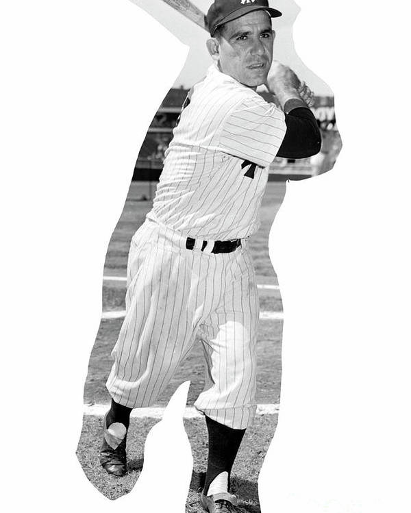 People Poster featuring the photograph Yogi Berra by Kidwiler Collection