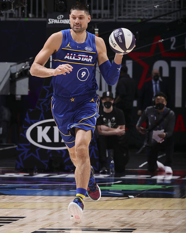 Atlanta Poster featuring the photograph 2021 NBA All-Star - Taco Bell Skills Challenge by Nathaniel S. Butler