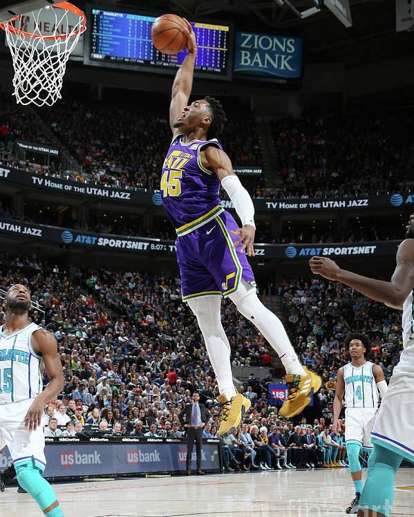 Nba Pro Basketball Poster featuring the photograph Donovan Mitchell by Melissa Majchrzak