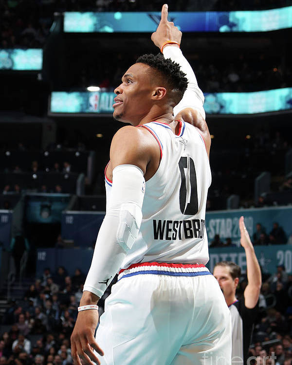Nba Pro Basketball Poster featuring the photograph Russell Westbrook by Nathaniel S. Butler