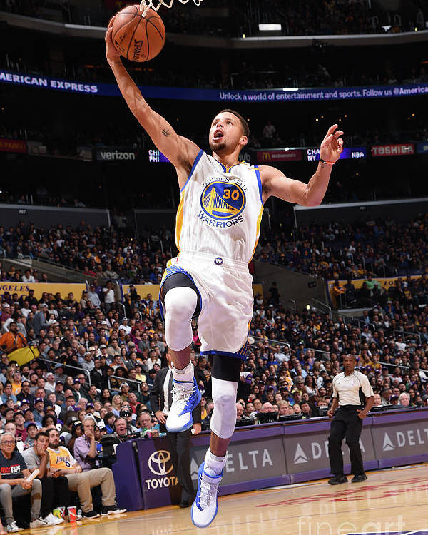 Nba Pro Basketball Poster featuring the photograph Stephen Curry by Andrew D. Bernstein
