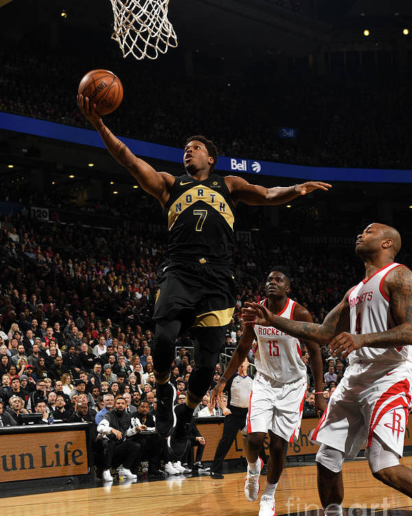 Nba Pro Basketball Poster featuring the photograph Kyle Lowry by Ron Turenne