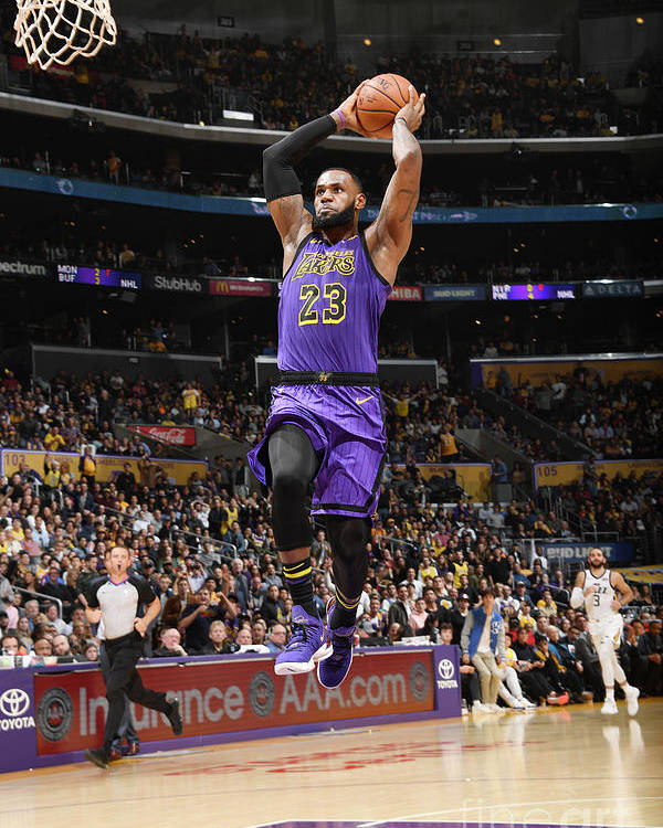 Nba Pro Basketball Poster featuring the photograph Lebron James by Andrew D. Bernstein