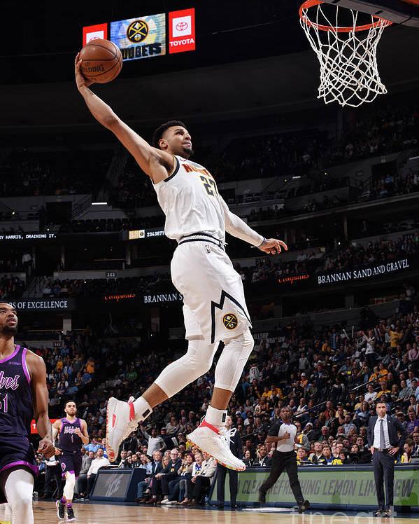 Nba Pro Basketball Poster featuring the photograph Jamal Murray by Garrett Ellwood